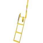 Close up view of 3 Step Adjustable Stake Rolson Ladder