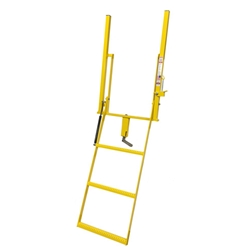 Double Handle Wide 3 Step Adjustable Stake Rolson Ladder